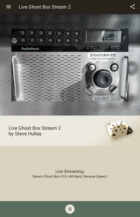 Live Ghost Box Stream 2- screenshot