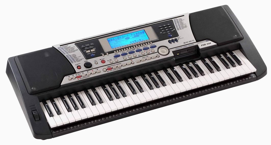 Đàn organ psr 550 có thương hiệu nổi tiếng.
