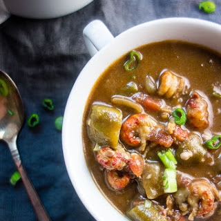 Louisiana Seafood Gumbo with Okra.