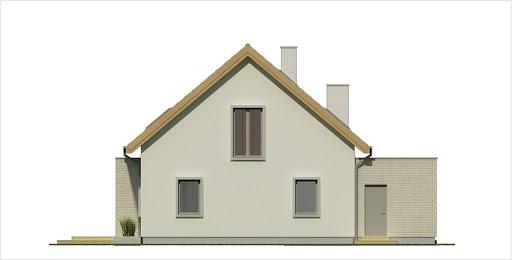 Antoni wersja C podwójny garaż - Elewacja tylna
