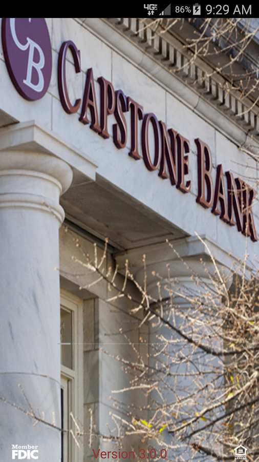 Capstone Bank AL Mobile App- screenshot