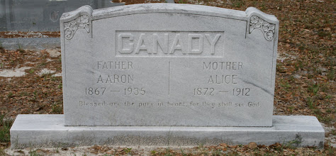 Photo: Aaron Canady and Alice Crawford daughter of Benjamin Crawford and Sidney Ann Raulerson