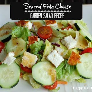Seared Feta Cheese Garden Salad.