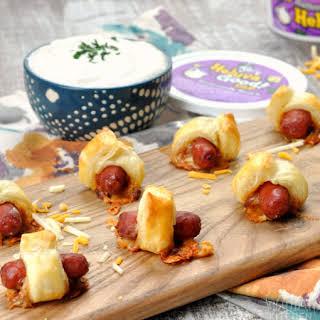 Mini Chili Cheese Dogs.
