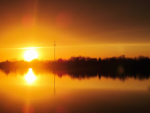 Photo: Gorgeous golden sunset dripping into a lake at Eastwood Park in Dayton, Ohio.