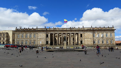 Photo: Bogotá - Plaza de Bolivar and Capitolio Nacional (Congress)