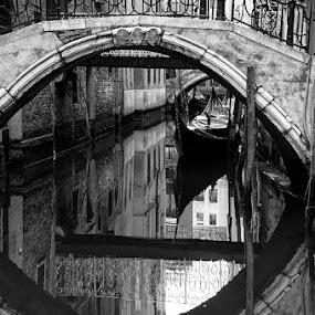 The Bridge by Rory McDonald - Landscapes Travel ( black and white, venice, bridge )