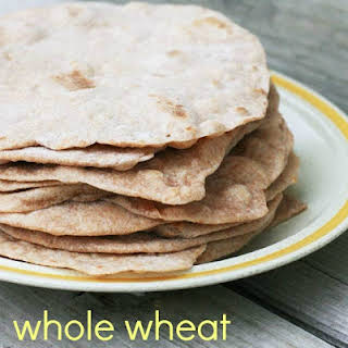 Homemade Whole Wheat Tortilla Shells.