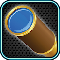 Spyglass with zoom icon