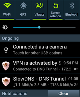 VPN Over DNS  Tunnel : SlowDNS Screenshot