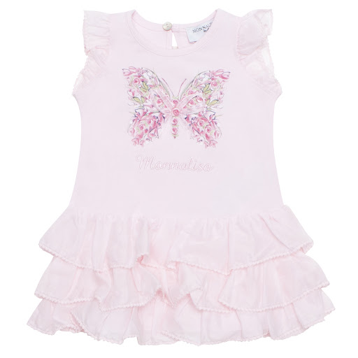 Primary image of Monnalisa Cotton Butterfly Dress
