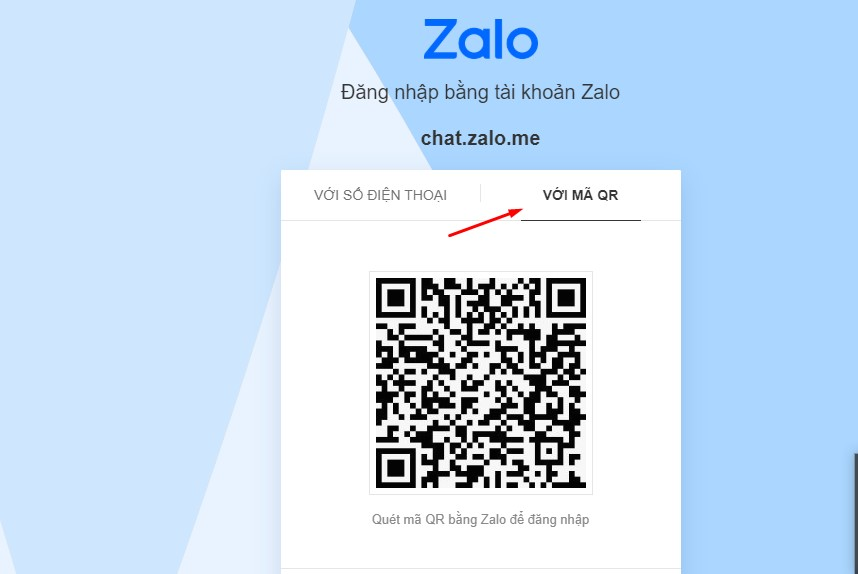 Đăng nhập Zalo bằng mã QR