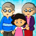 Pretend Play My Grandparents: Happy Granny Family icon