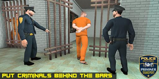 Police Moto Bike Prisoner Transport 3D screenshots 2