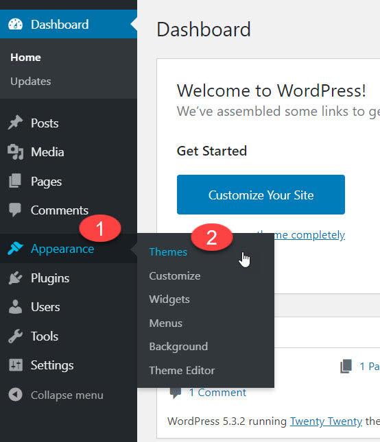 Cai dat theme WordPress