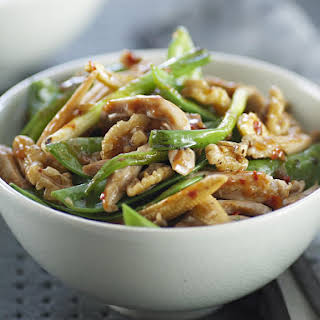 Chicken with Sugar Snap Peas and Walnuts.