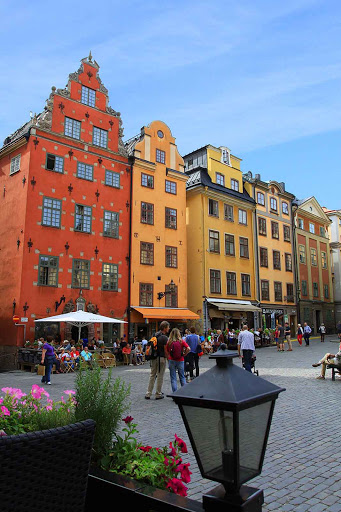 Sweden-Stockholm-Gamia-Stan - While visiting Stockholm, a visit to Gamia Stan may include lingering at a café on Stortorget.