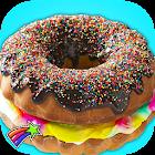 Rainbow Donut Cake Maker Chef icon