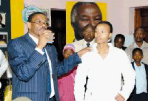 ADOPTING KIDS: Ace Magashule with one of the adopted children. © Sowetan.