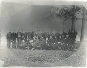 Photo: 10th Michigan Cavalry.  Wallace William DICKINSON is sitting on the group, the second of three men.