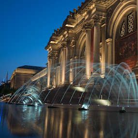 The Metropolitan by Mario Spiz - Buildings & Architecture Public & Historical ( met, night photography, metropolitan, long exposure, nyc, museum, ny, newyork, nightscape )