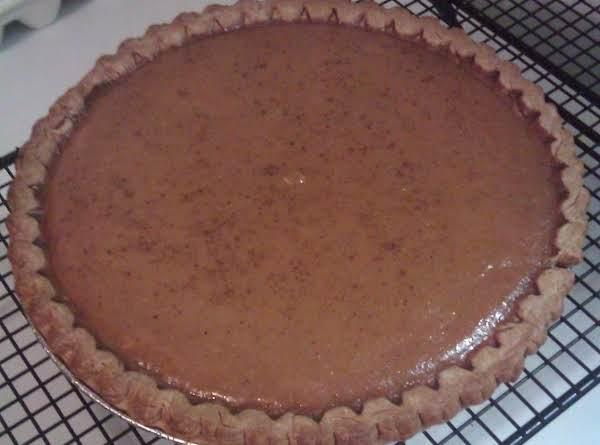 Fresh Homemade Pumpkin Pie