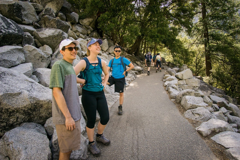 Hiking to Vernal Falls
