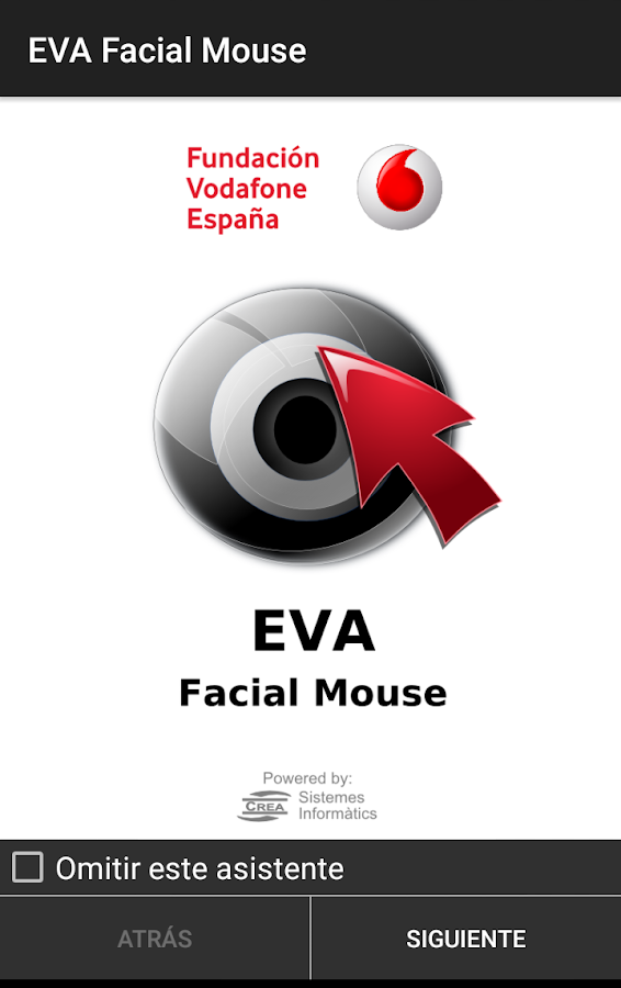 EVA Facial Mouse: captura de pantalla