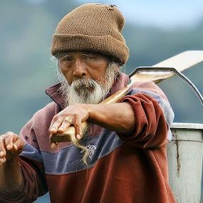 Wondering by Agoes Antara - People Portraits of Men ( candid, senior citizen, people, pcwemotions, portrait of men )