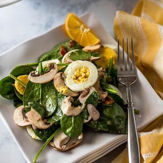 Classic Spinach Salad with Honey Dijon Vinaigrette.