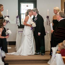 by Myra Brizendine Wilson - Wedding Bride & Groom ( bride, couple, groom, bride and groom, wedding, family,  )