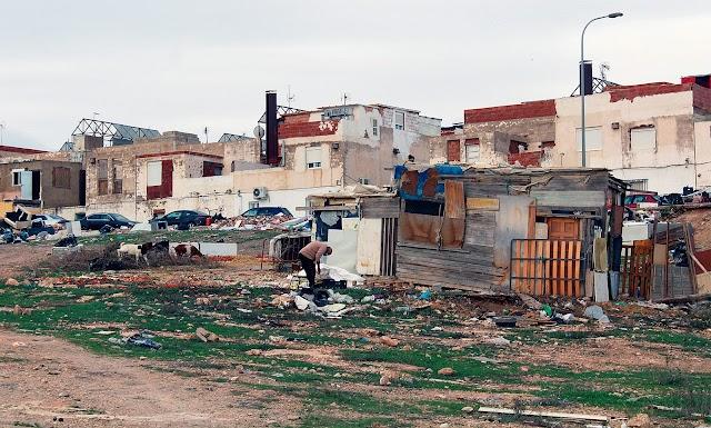 Casas del barrio de la capital.