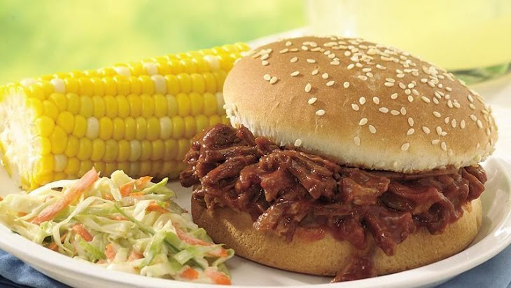 Slow-Cooker Beef and Pork Barbecue Sandwiches Recipe