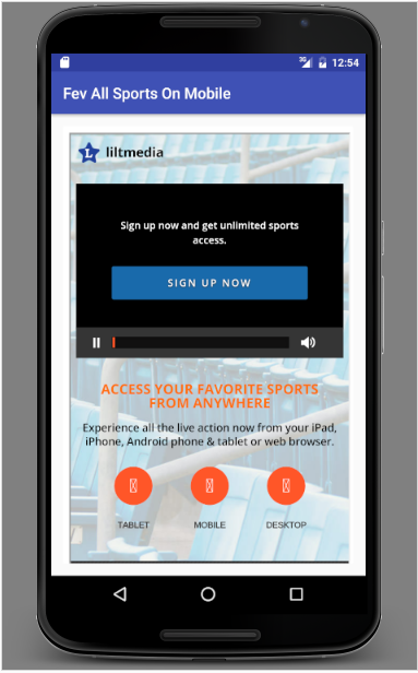 Fev All Sports On Mobile- screenshot