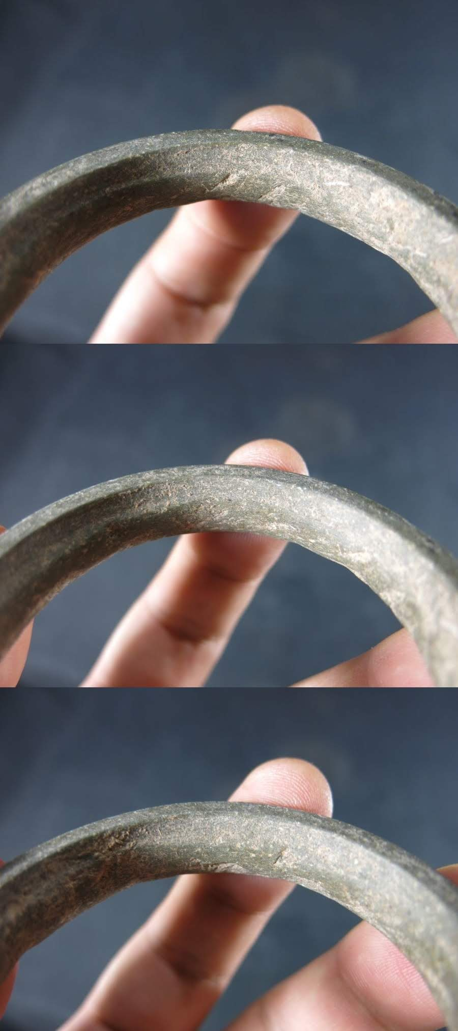 A タイ バンチェン石製腕輪① 紀元前1000年 遺跡発掘品 文化財 珍品 ユネスコの世界遺産 古代文明