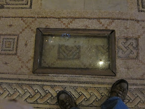 Photo: Mosaic floor layers