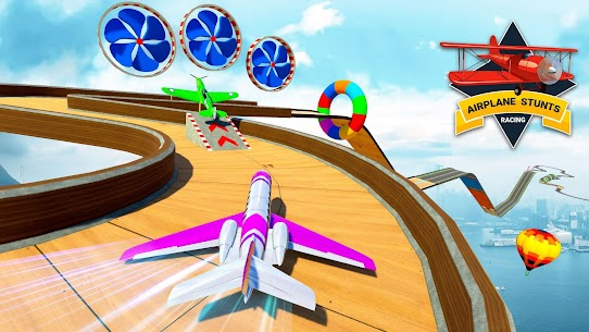 Airplane Stunts 3D: Extreme City GT Racing Plane 4