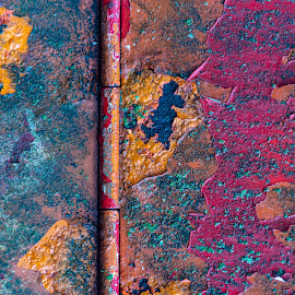 Junk Yard Abstract by Earl Heister - Abstract Patterns ( textures, paint abstract, abstract, colors abstract )