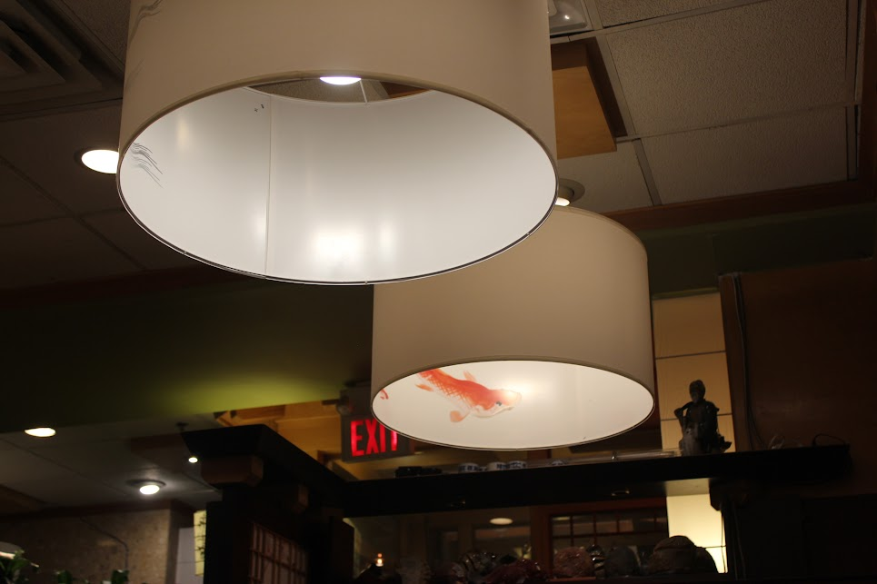 Decorated lights at ichiban fish house