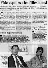 Photo: 20-03-97 Création du pôle espoir féminin à Nancy