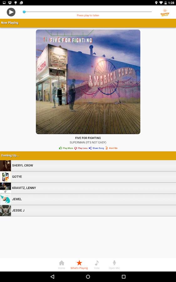 Sunny 101.5 WNSN- screenshot