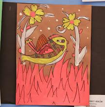 Photo: Bark Painting Grade 4