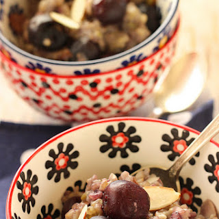 Sweet Cherry Almond Breakfast Risotto