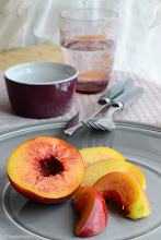 Photo: Peach Styling Nikon D3100 on a tripod, natural light, f/5.6 exp.1sec iso100 #peach #fruit #foodstyling   #nikon