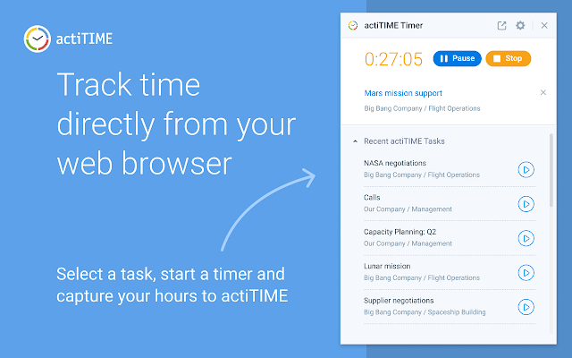 actiTIME Time Tracking & Project Management