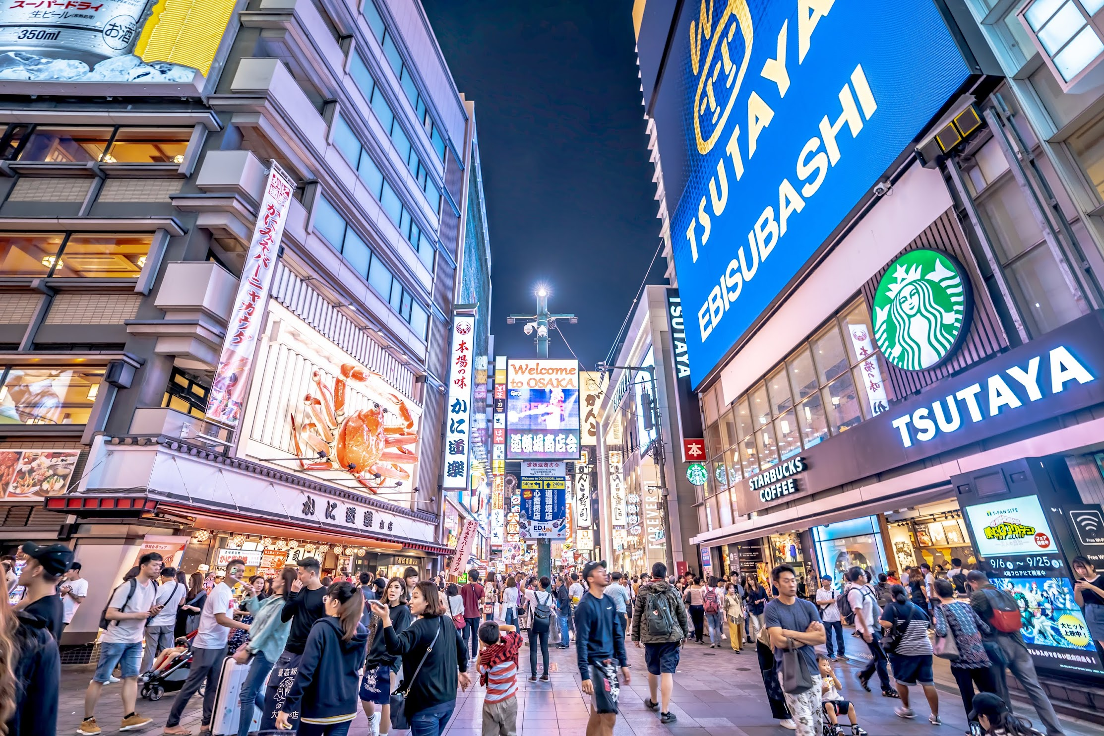 Dotonbori Shopping District evening1