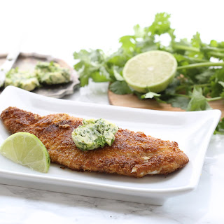 Pan-Fried Fish with Cilantro Lime Butter Recipe