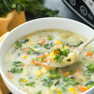 Slow Cooker Creamy Vegetable Soup + RECIPE VIDEO Recipe