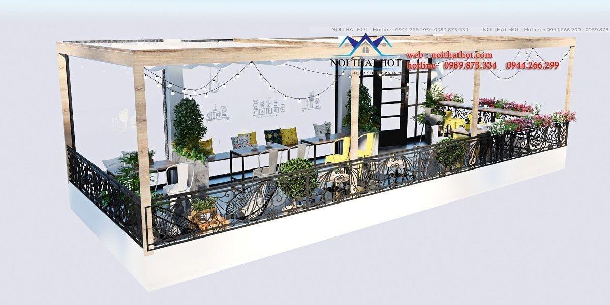 thiết kế quán trà sữa cafe và siêu thị 14