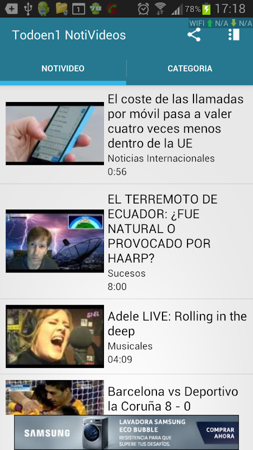 Todo en 1 NotiVideos- screenshot